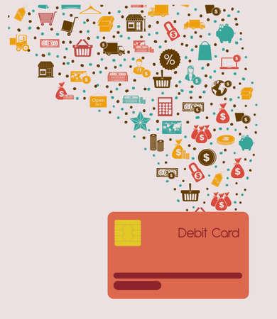 Money design over beige background, vector illustration Illustration
