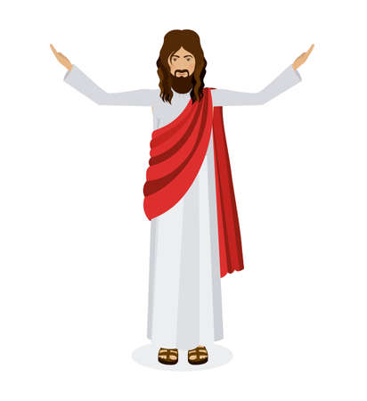 Jesuschrist design over white background, vector illustration Illustration