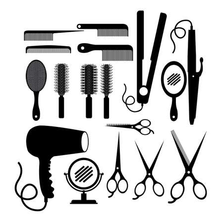 mirrow: Hair saloon design over white background, vector illustration