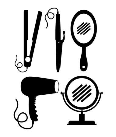 mirrow: Hair saloon design over white background, vector illustration