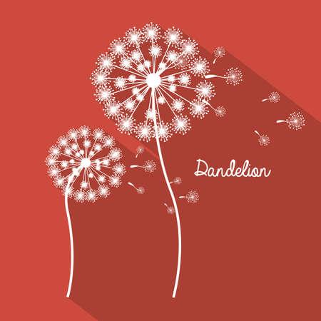 Flowers design over red background, vector illustration Vector