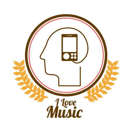 Music design over white background, vector illustration