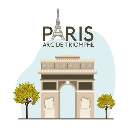 french culture: Paris design over white background, vector illustration