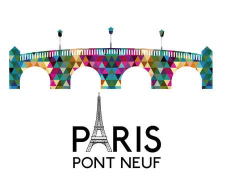 pont: Tourism design over white background, vector illustration