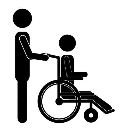 limitation: Disabled design over white background, vector illustration