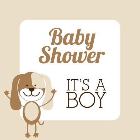 teddy wreath: Baby shower design over beige background, vector illustration Illustration