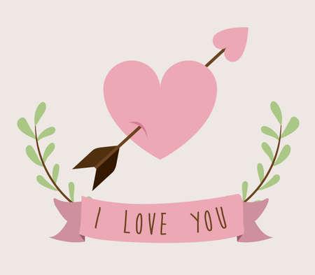 you are special: Love design over beige background, vector illustration Illustration