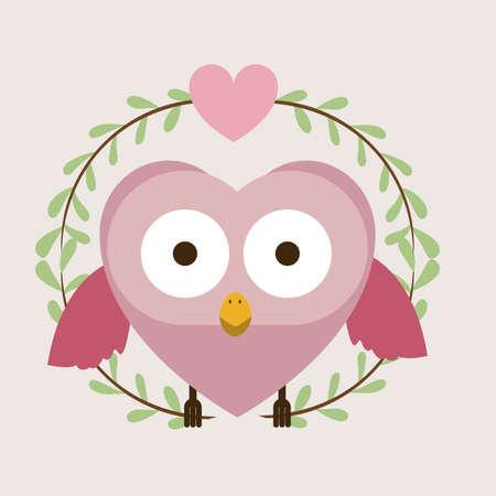 Love design over beige background, vector illustration Vector