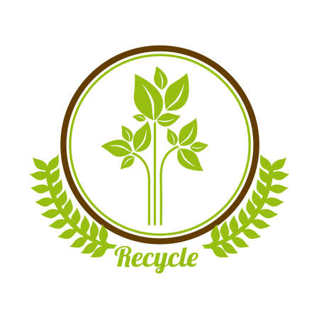 Recycle design over white background, vector illustration Vector