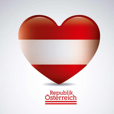 austrian flag: Austria design over white background, vector illustration