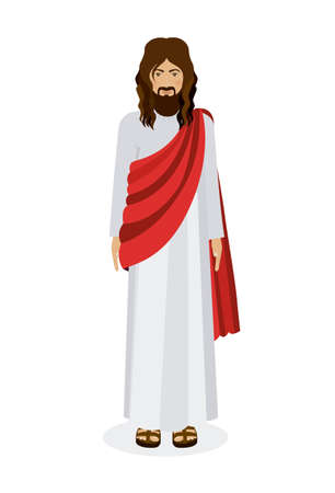 jesuschrist: Jesuschrist design over white background, vector illustration Illustration