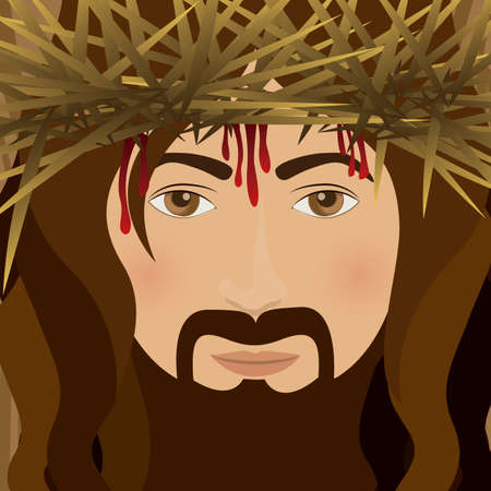 jesuschrist: Jesuschrist design over brown background, vector illustration