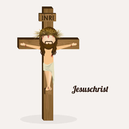 Jesuschrist design over white background, vector illustration Vector