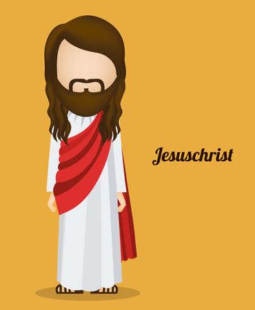 jesuschrist: Jesuschrist design over yellow background, vector illustration