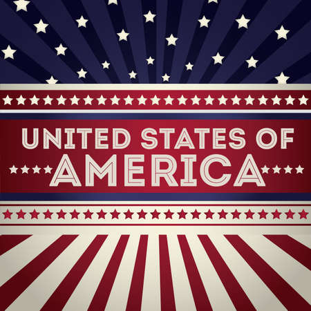 usa patriotic: USA design over vintage background, vector illustration Illustration