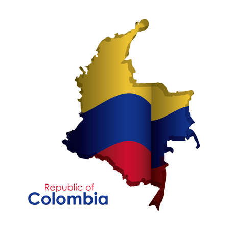 Colombia design over white background, vector illustration Vector