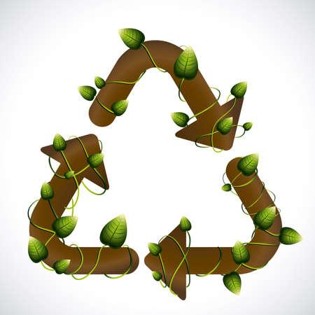 enviromental: Dise�o de reciclaje sobre fondo blanco, ilustraci�n vectorial
