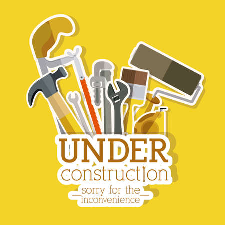 Tools design over yellow background, vector illustration