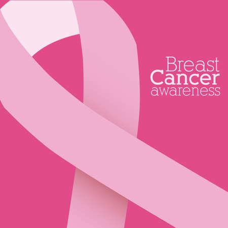 breast: Cancer design over pink background, vector illustration