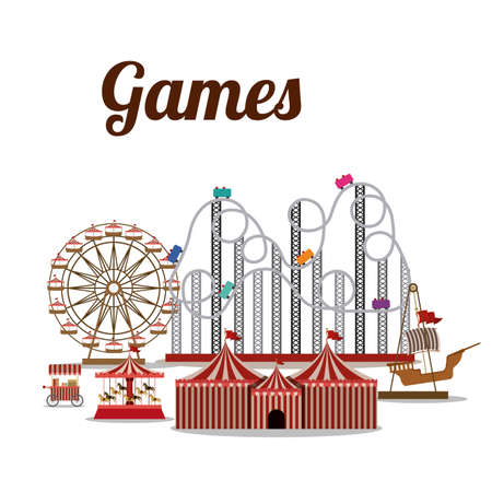 theme: Theme park design over white background, vector illustration
