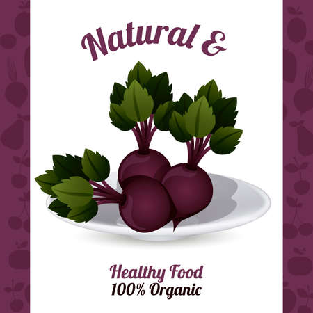 purples: Food design over purples background, vector illustration