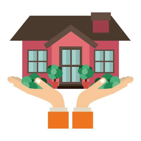 hometown: Real estate design over white background, vector illustration