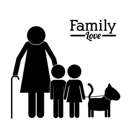 Family design over white background,vector illustration Vector
