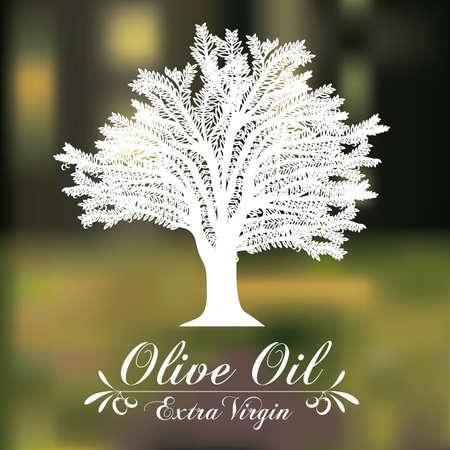Olive oil design over blur background, vector illustration Vector