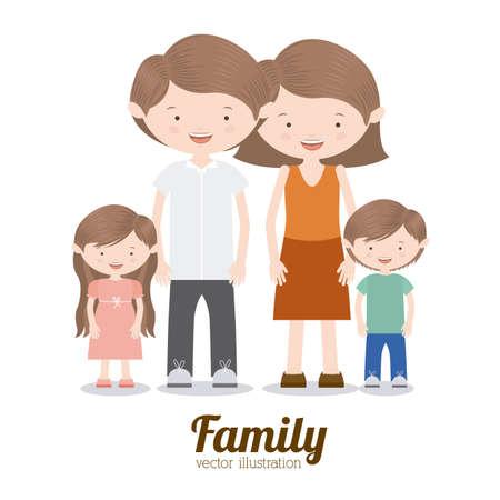 Family design over white background,vector illustration Illustration