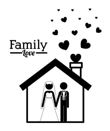 homelike: Family design over white background,vector illustration Illustration