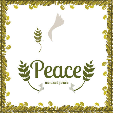 pacificist: Peace design over white background,vector illustration