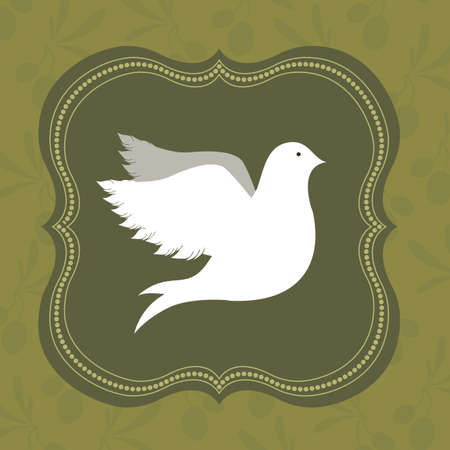 pacificist: Peace design over green background,vector illustration Illustration