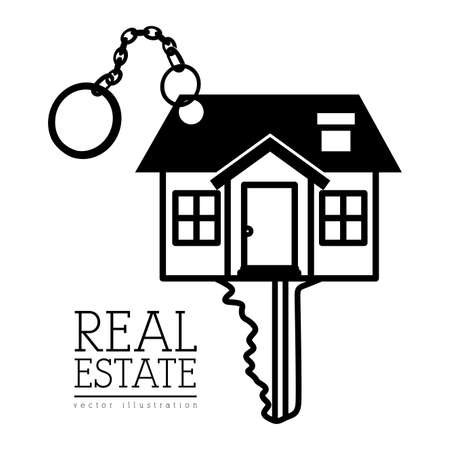 Real estate design over white background, vector illustration Vector