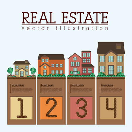 numers: Real estate design over white background, vector illustration