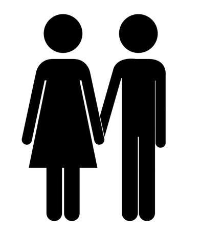 heterosexuality: People design over white background,vector illustration Illustration