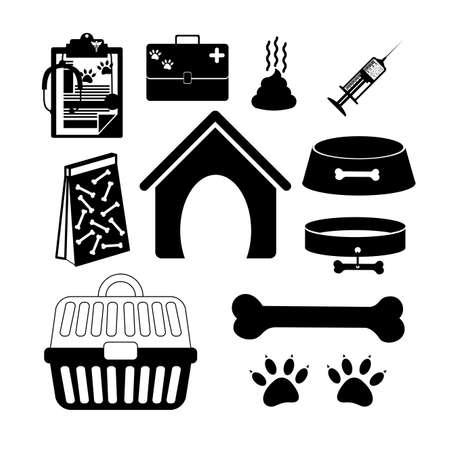 shit: Pets design over white background, vector illustration
