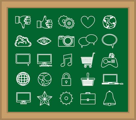 disgusted: Technology design over blackboard background, vector illustration Illustration