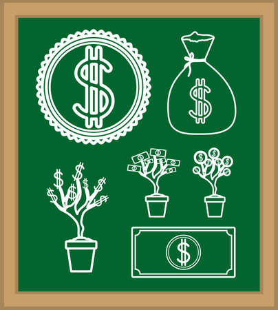 Money design over blackboard background, vector illustration Vector