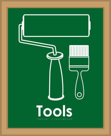 Tools design over blackboard background,vector illustration Vector