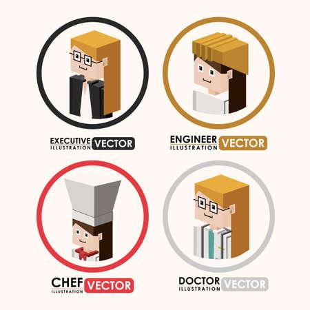 womens work: Job design over white background, vector illustration Illustration