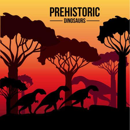 sunshine background: Dinosaur design over sunshine background,vector illustration