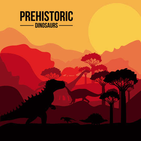Dinosaur design over sunshine background,vector illustration