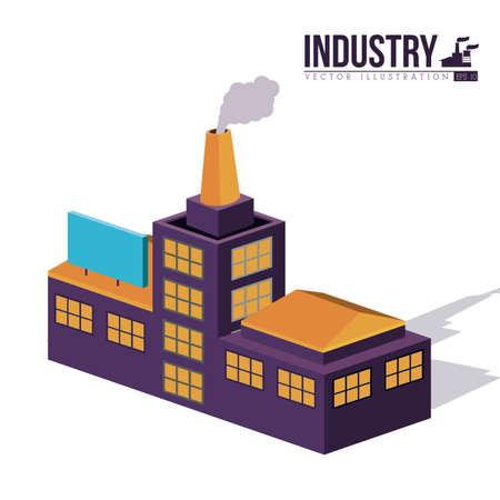 Industry design over white background,vector illustration Vector