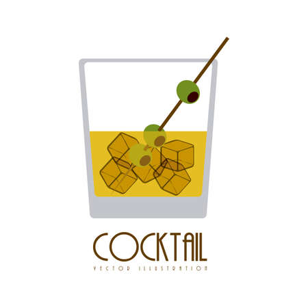 cocktail drinks: Cocktail design over white background,vector illustration Illustration