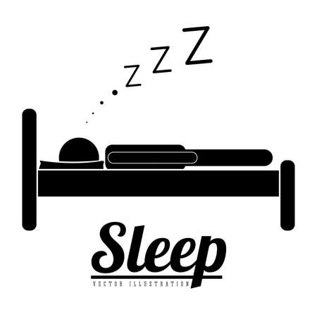 delusion: Sleep design over white background, vector illustration Illustration