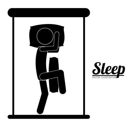 Sleep design over white background, vector illustration Vector