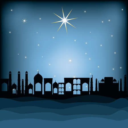 Christianity design over blue background, vector illustration