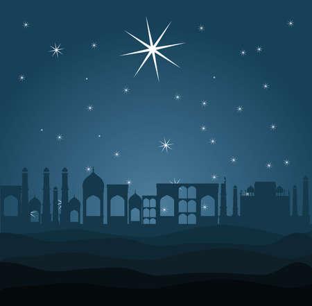 Christianity design over blue background, vector illustration Vector