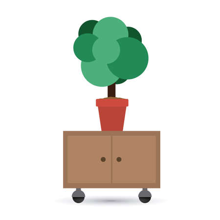 pieces of furniture: Icon design over white background, vector illustration