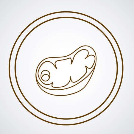 ailment: Food design over white background, vector illustration Illustration